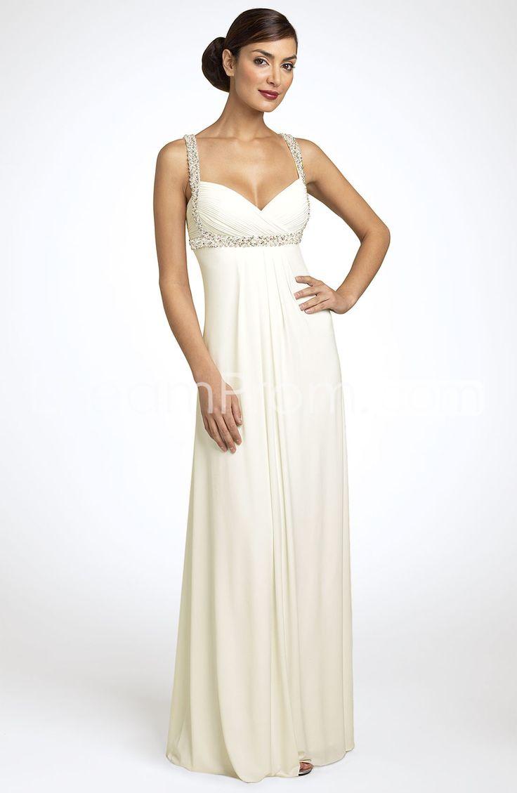 Fabulous JS Boutique Pearl Trim Crisscross Matte Jersey Gown from Nordstrom