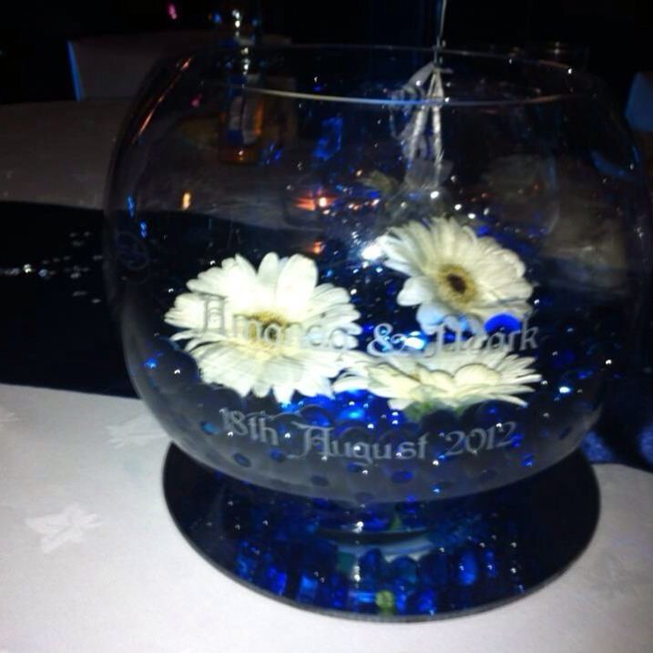 Wedding centrepiece personalised