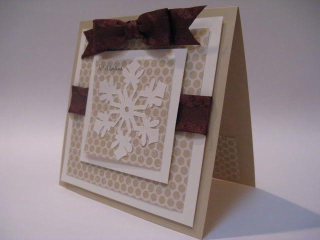 Snowflake card #cricut