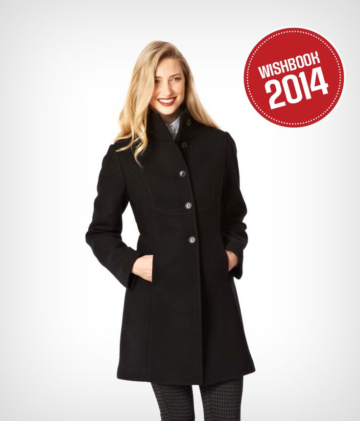 A classic winter coat is a must have!  You can wear this coat casual or dressy
