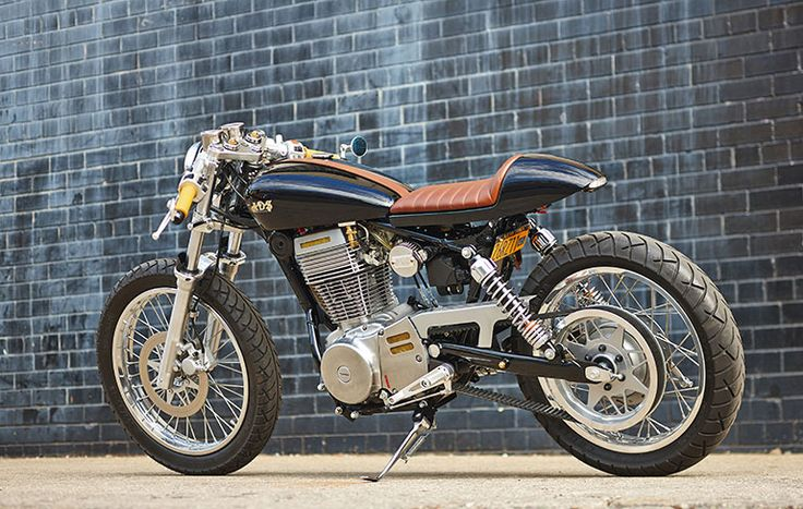 A custom built/convert from a Suzuki Savage with the addition of CS-1 Café Racer kit from RYCA Motors.