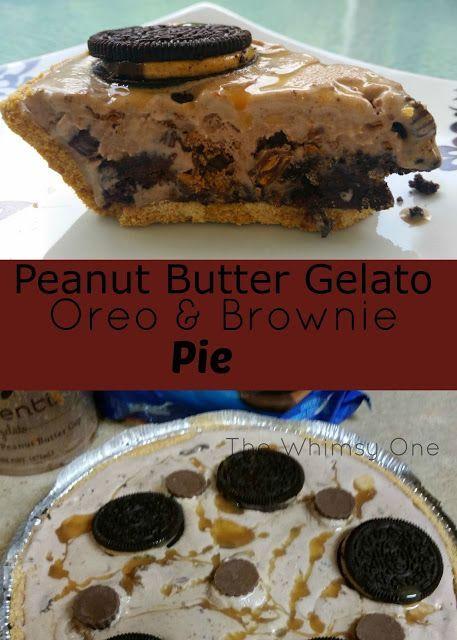 Erdnussbutter-Gelato und Oreotorte mit Schokoladenkuchenbissen. lecker und super einfach …   – Delicious recipes