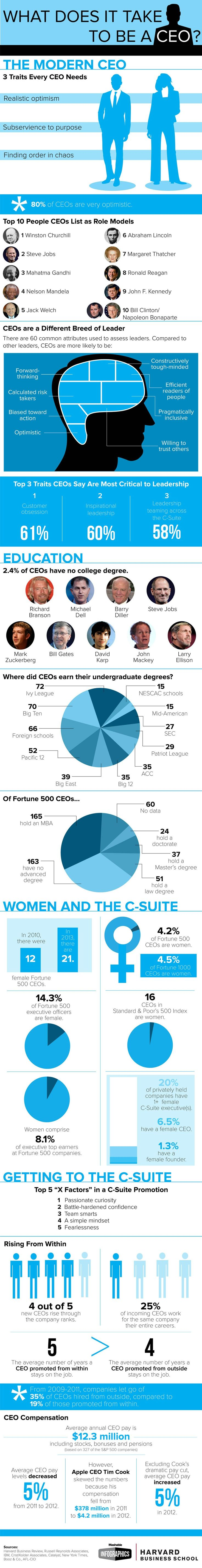 What Does it Take to Be a CEO? #infographic #Entrepreneur #CEO