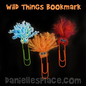 Wild About Learning Paper Clip Bookmarks from www.daniellesplace.com