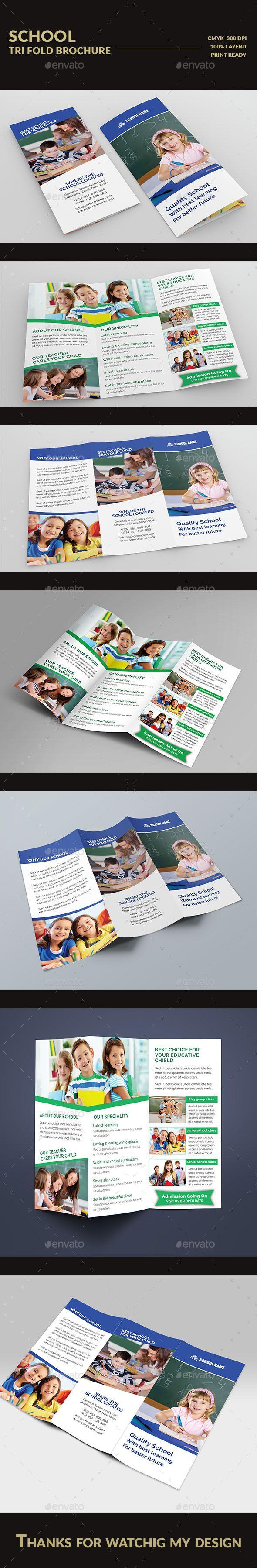 School Tri fold Brochure - Brochures Print Templates