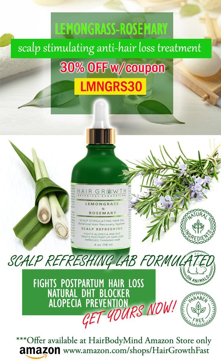 Lemongrass-Rosemary Scalp & Hair Oil  30% OFF with Coupon LMNGS30