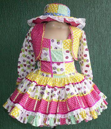 vestido festa junina infantil curto - Pesquisa Google