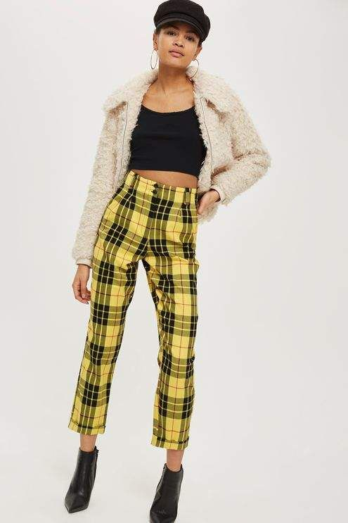 Topshop Tartan Checked Trousers