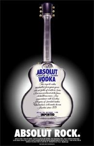 Absolut vodka Rock ad