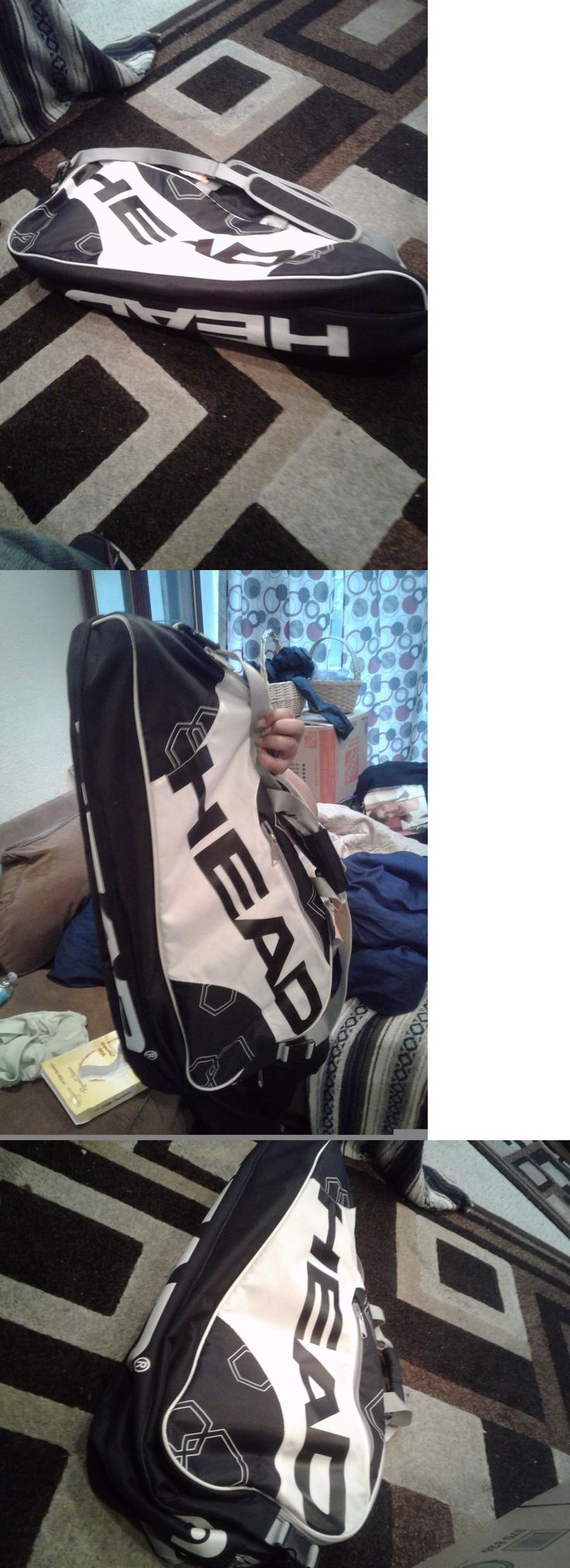 Bags 20869: Head Tennis Bag Elite Combi Black White Good Condition, Sales Tag Attached. -> BUY IT NOW ONLY: $40 on eBay!