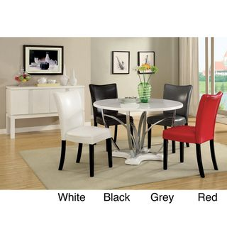 Furniture Of America Relliza Contemporary High Gloss Lacquer 5 Piece Dining  Set (Red Chairs), Size 5 Piece Sets