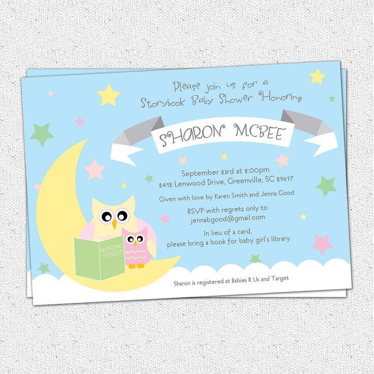 24 best Shower Ideas #2 Moon \ Stars images on Pinterest Shower - baby shower invite samples