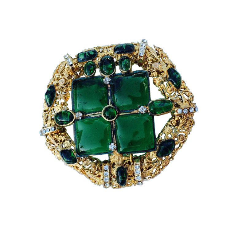 Rare Robert Goossens for Chanel Pendant Brooch 1970s | From a unique collection of vintage brooches at https://www.1stdibs.com/jewelry/brooches/brooches/