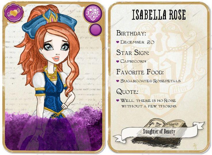 EAH OC: Isabella Rose: Cards by MandigaO.deviantart.com on @deviantART