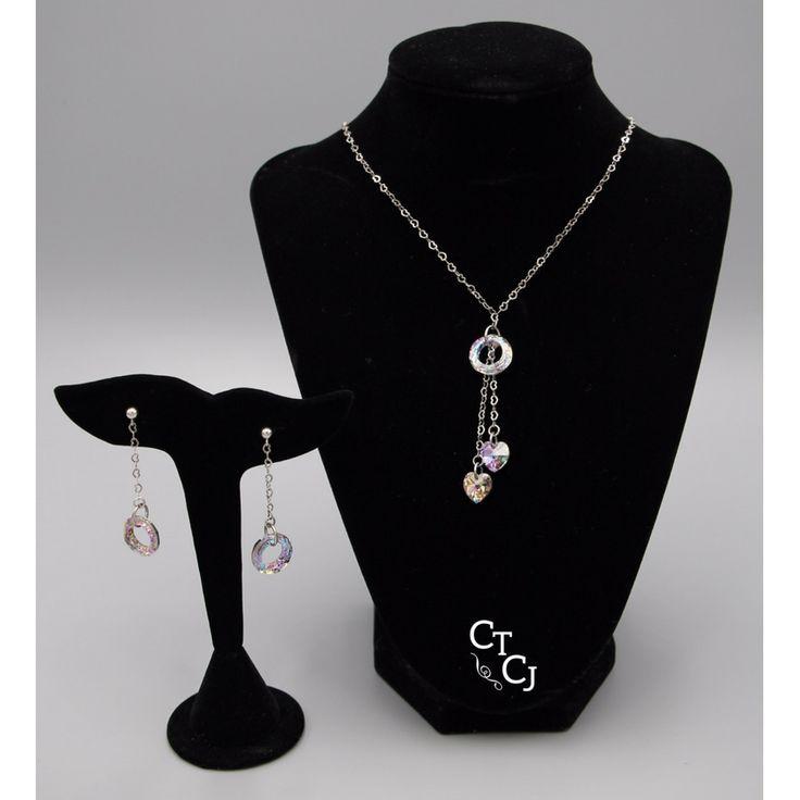 Swarovski vitriol sparkle on sterling silver heart chain!  https://www.etsy.com/ca/shop/CTCustomJewellery