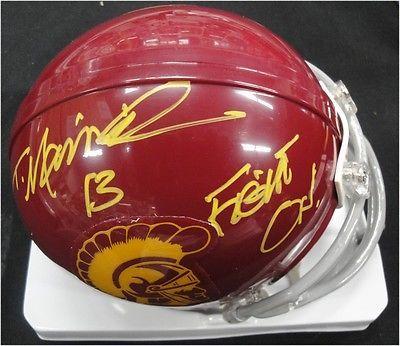 Todd Marinovich Hand Signed Autograph Football Mini Helmet USC Trojans Fight On