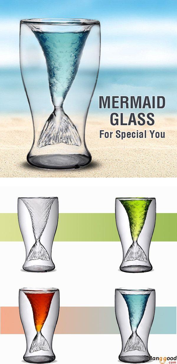 us$10.58+free shipping. mermaid beer glass. borosilicate glass. fishtail design. Add more fun to your beer time and buy now.