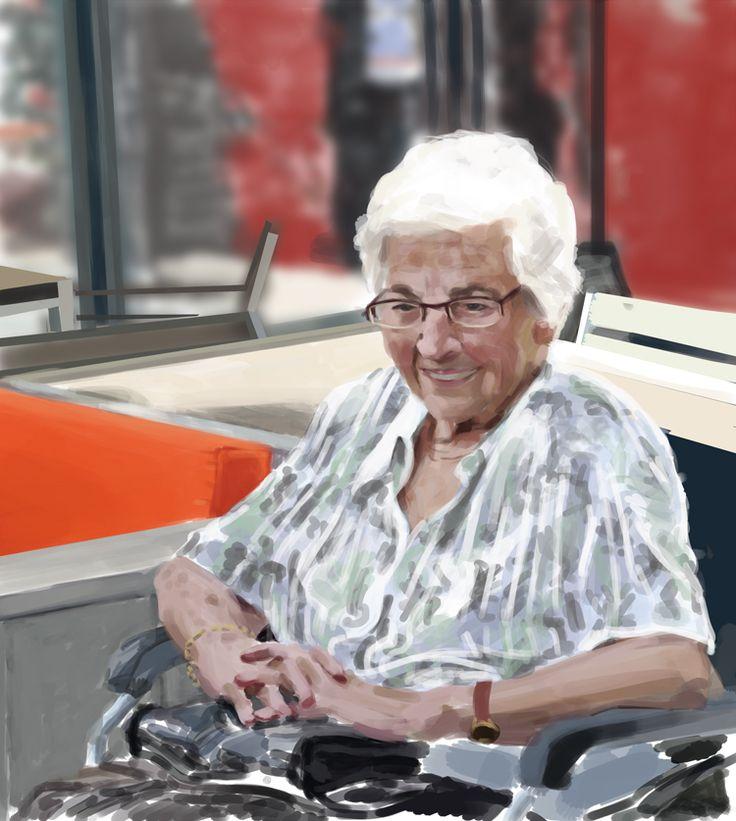 Digital portrait Granny    www.ewoudbakker.com