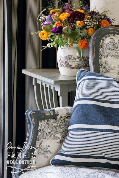 47 best annie sloans fabric images on pinterest chalk painting paris noir from the annie sloan fabric collection is a smart chic way to introduce gumiabroncs Image collections