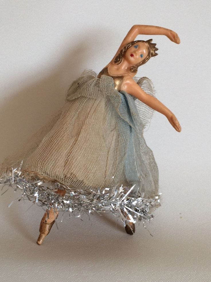 vintage Christmas tree fairy angel doll ballerina--I have one from when I was a child.