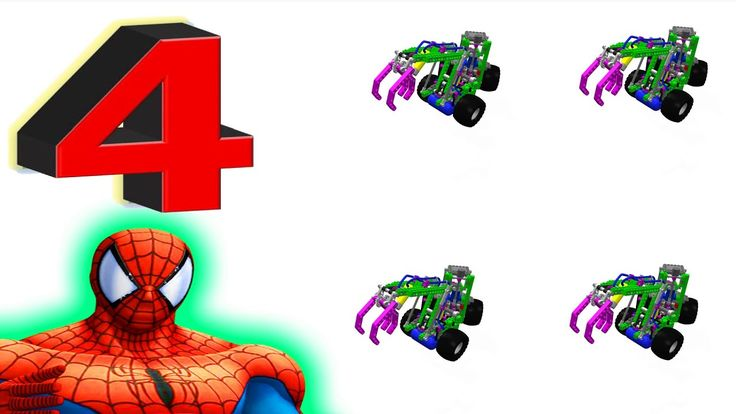 Learn Numbers 1 to 10 Toy Hook Truck video for Kids with superhero Spiderman