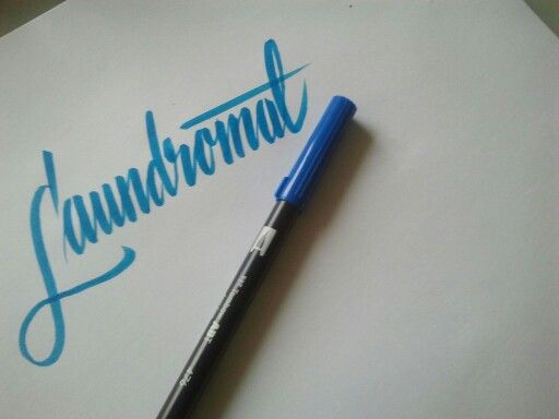 Brush letters. Tombow.