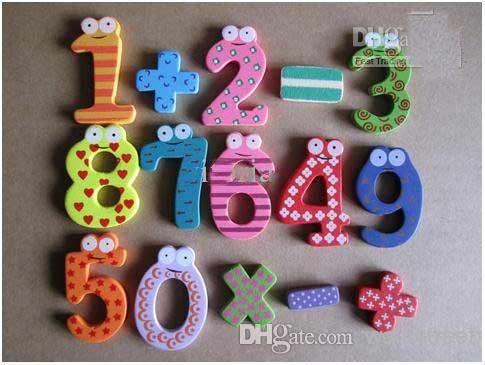 hot детские творческие подарки игрушки деревянные магнитные наклейки цифровой древесины магниты