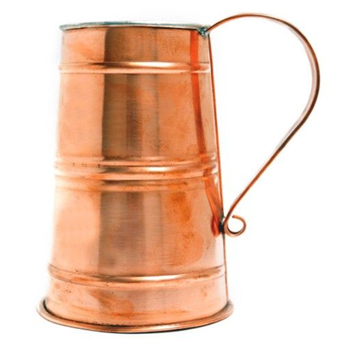Authentic Beer Stein by Jacob Bromwell, Inc  Authentic Beer Stein   Completely built by hand, our period-correct beer stein is made of copper and holds 30 ounces of your favorite beer. No two are alike.  Best Seller! $149.99  http://jacobbromwellcookware.blogspot.com/2013/08/how-to-choose-best-cookware.html