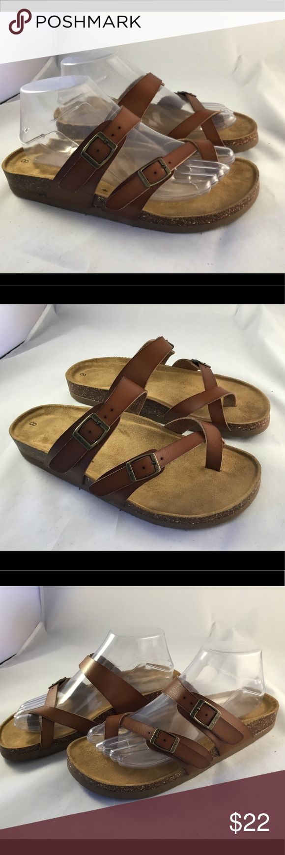 New sz 8  Eastland sandals Birk style New! Quality leather with contoured cork heel and plush insole.  Very nice! Eastland Shoes Sandals