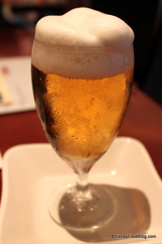 Frozen Beer in Epcot's Japan!! Interesting...it maybe worth a try ($8 per glass).