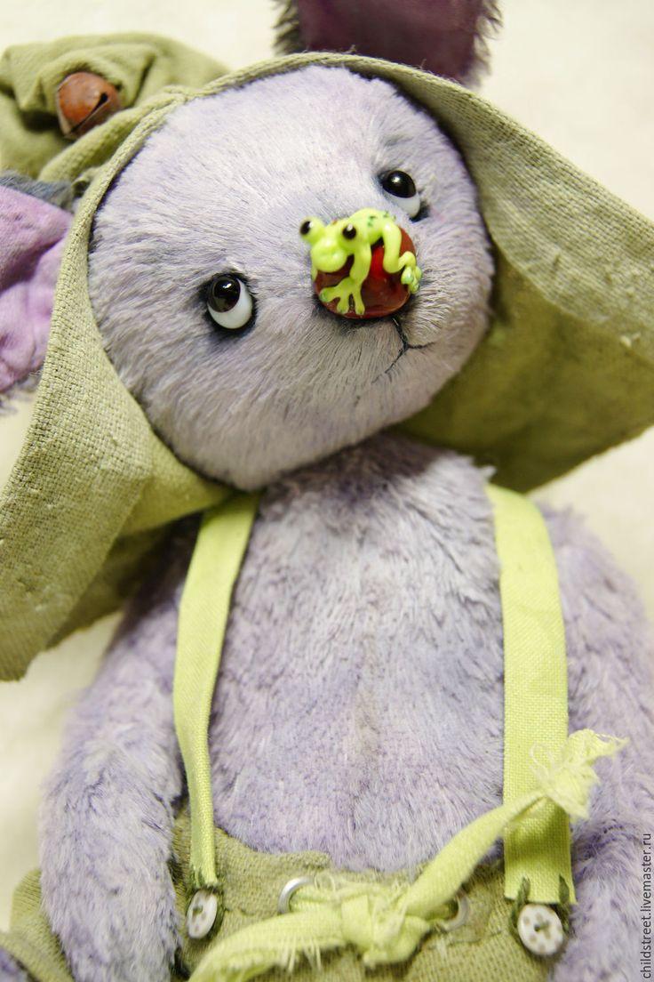 Купить Кроля Кыш))) друг Тедди - сиреневый, кролик, друзья тедди, мишка ручной работы