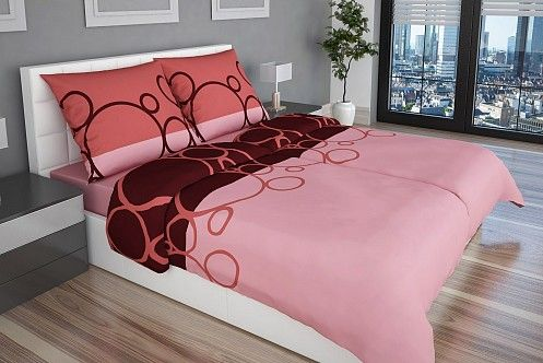 Rôzne odtiene ružovej farby robia z posteľných obliečok Mellony z kvalitného bavlneného saténu nevyhnutnú súčasť vašej spálne.