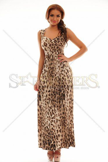 MissQ Iconic Flower Brown Dress