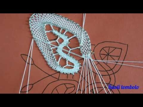 (5) Merletto a tombolo - Progetto Farfalla #4: come eliminare una coppia dal mezzo punto e punto tela - YouTube