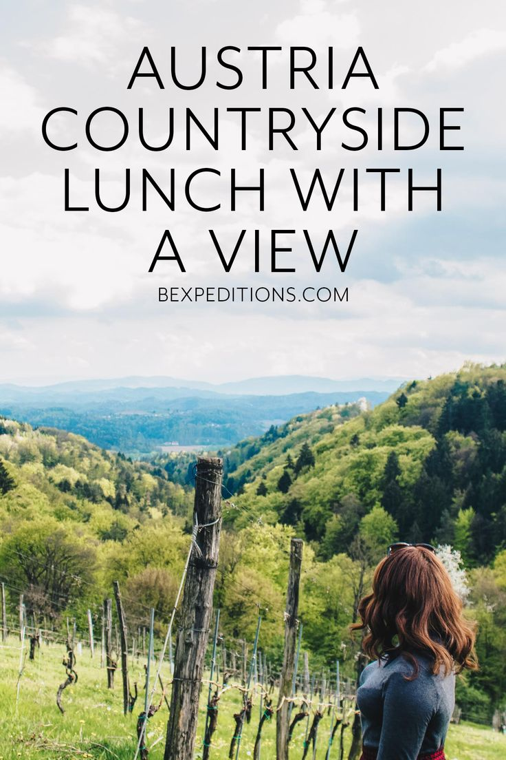 A beautiful countryside lunch in Austria, outside of Graz