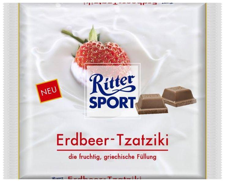 RITTER SPORT Fake Schokoladen Sorte Erdbeer-Tzatziki