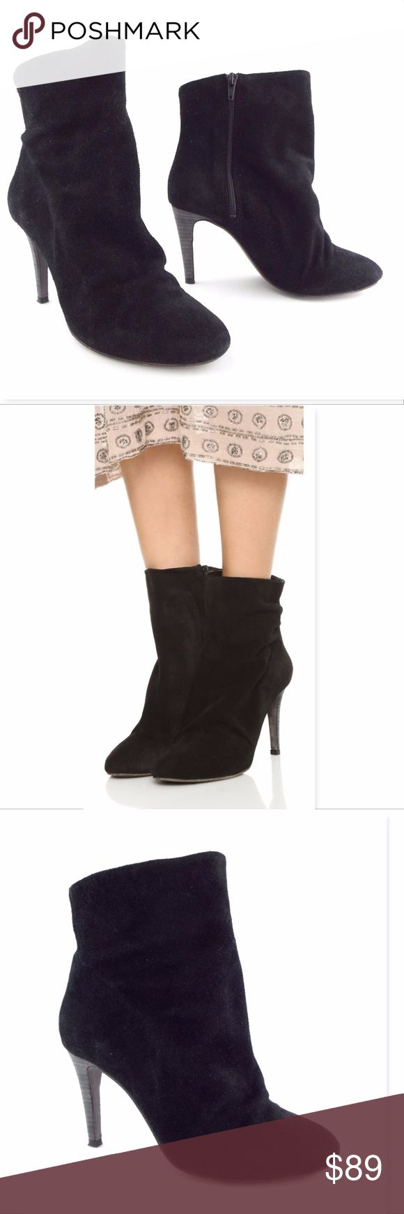 FREE PEOPLE Size 38 Black Suede Slouch Ankle Boots FREE PEOPLE 100% authentic! Black Suede Side Zip Slouch Ankle Boots Size 38 Eur or 7 1/2 - 8 Medium Very lightly worn and excellent looking! All actual photos of the item except for pic #2 Free People Shoes Ankle Boots & Booties