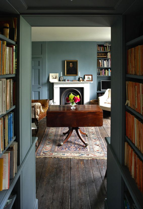 hallway library from The Paper Mulberry: Country Homes of England blog
