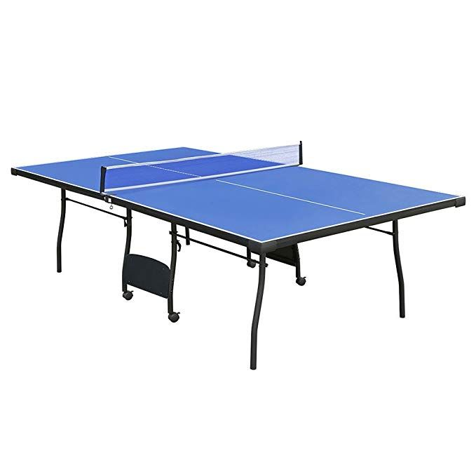 Funmall 9 Foot Full Size Indoor Folding Table Tennis Table Net Set Competition Ready Indoor Table Tennis Table Tennis Ping Pong Table Folding Ping Pong Table