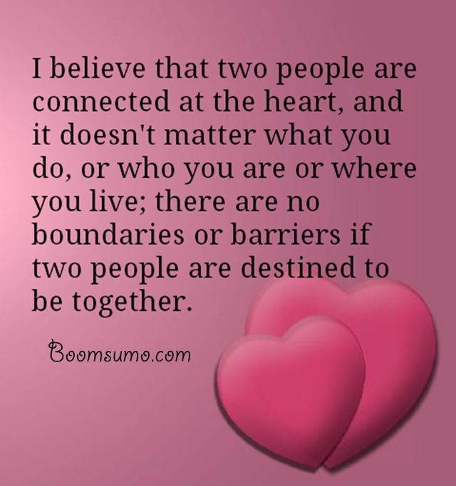 Love Quotes And Love Sayings Two People Are Connected Together