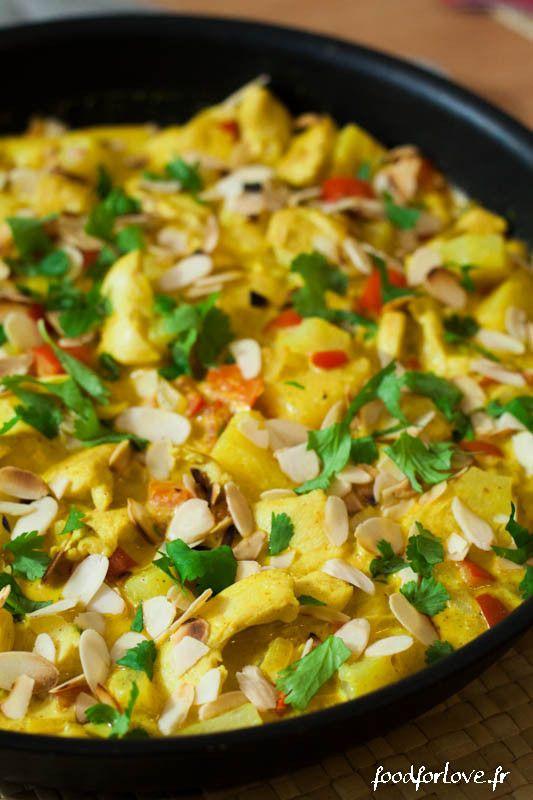 Curry de Poulet à lAnanas et au Lait de Coco