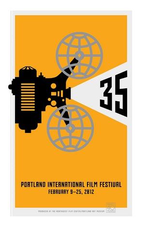 Sandstrom Partners  Portland International Film Festival Poster  Client : NW Film Center  Design Firm : Sandstrom Partners  Designer : Sandstrom, Steve: Posters Annual, Film Festivals, Festivals Posters, Posters Client, Festival Posters Logos, Cartel, Film Posters, Travel Posters