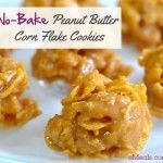 My Grandma would make these.  They were so good! No-Bake Peanut Butter Corn Flake Cookies #eMealsBakes