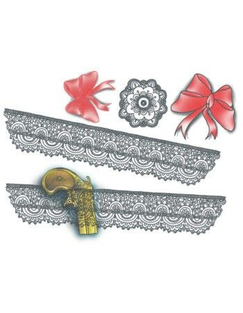 Lace Drawings Garter Tattoo Template Pictures to Pin on Pinterest ...