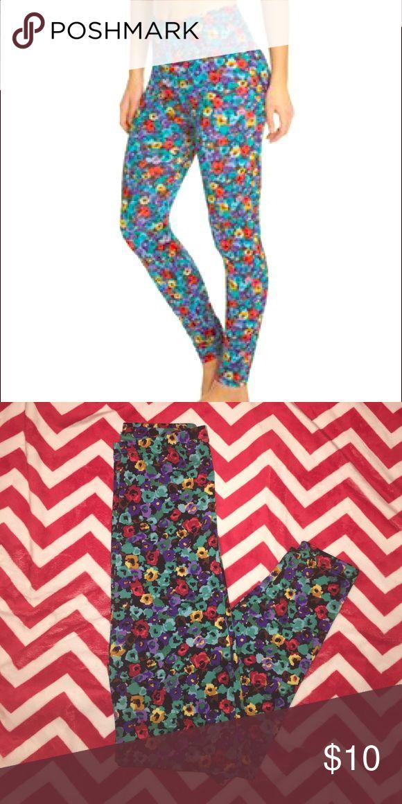 American Apparel Floral Shiny Leggings Floral Shiny Leggings American Apparel Pants Leggings