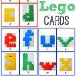 Alphabet Lego Cards: Lowercase {free printable!}