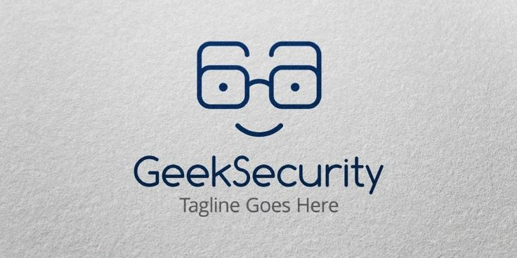 Geek Security Logo Template for Sale
