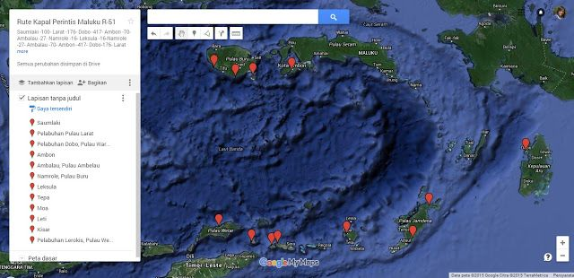 Rute Kapal Perintis Maluku Jalur R-51