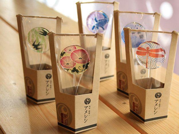 「浅草 飴細工 アメシン」の「うちわ飴」Lollipop☆