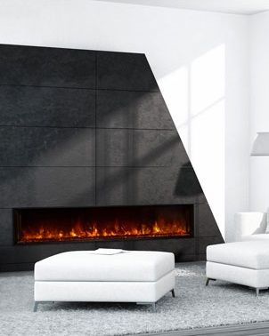 Condos and Wall mount electric fireplace